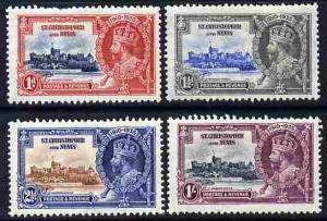 St Kitts-Nevis 1935 KG5 Silver Jubilee set of 4, mounted ...