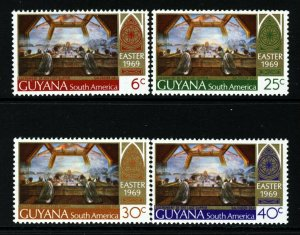 GUYANA 1969 Complete Easter Set SG 481 to SG 484 MNH