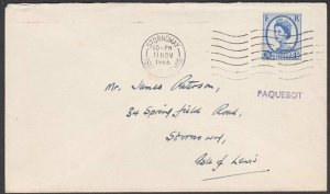 GB SCOTLAND 1966 cover with scarce PAQUEBOT STORNOWAY ......................P988