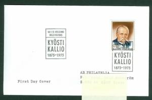 Finland. FDC 1973. President K. Kallio (1873-1973 ). Scott # 525. Address