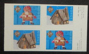 Norway 1320-21. 2001 Christmas, booklet pane of four, NH