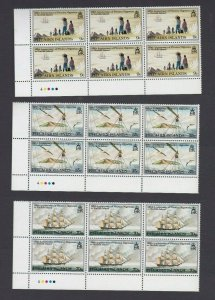 PN160) Pitcairn Islands 1981 125th Anniversary of Migration MUH blocks of 6
