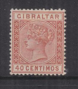 GIBRALTAR, 1889 40c. Orange Brown, lhm.