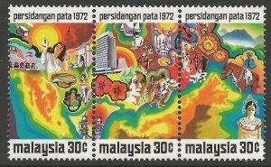 MALAYSIA SG95a 1972 PACIFIC AREA TOURIST ASSOCIATION CONFERENCE MNH