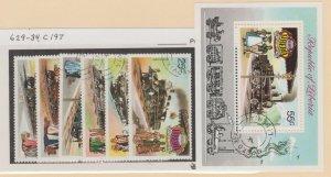 Liberia Scott #629-634//C197 Stamp - Used Set