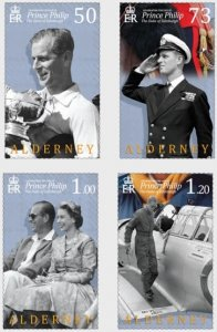 Alderney 2021 MNH Stamps Prince Philip The Duke of Edinburgh Airplane