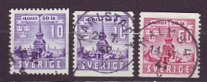 J22842 JLstamps 1941 sweden set used #319-21 building