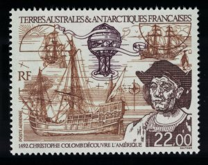 FSAT TAAF Christopher Columbus Discovery of America 1992 MNH SG#302 MI#291