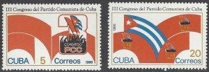 Cuba 2832-3  MNH  Communist Party Congress 1985
