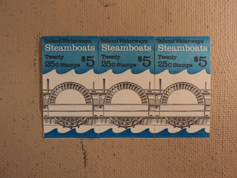 USPS Scott 2405-09 25c 1989 Steamboats 3 Books Of 20 60 S...