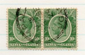 Kenya Uganda 1922 GV Early Issue Fine Used 10c. Pair 198438