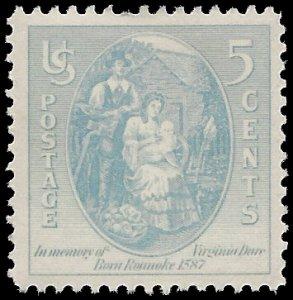 #796 5c Virginia Dare 1937 Mint LH