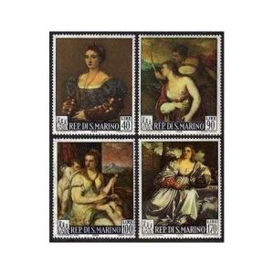 San Marino 639-642,MNH.Michel 865-868. Titian Paintings,1966.