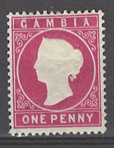 COLLECTION LOT # 3044 GAMBIA #13 MH 1896 CV=$10.50