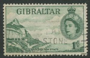 Gibraltar #133 QEII  Used  Scott CV. $0.95.