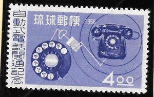 RYUKYU Scott #39 Mint NH  4 Yen Telephone 2018 CV $12.50
