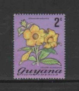 GUYANA #134 1971 2c FLOWER MINT VF NH O.G