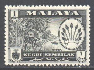 Malaya Negri Sembilan Scott 64 - SG68, 1957 Elizabeth II 1c MH*