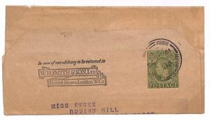 T76 1955 GB KGVI Advert Postal Stationery *W.H.SMITH* Wrapper {samwells-covers}