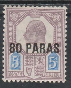 BRITISH LEVANT 1902 KEVII 80 PARAS ON 5D