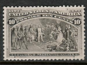 USA #237 Extra Fine Mint Lightly Hinged - Couple Of Natural Paper Inclusions