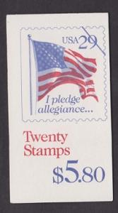 BK196 Pledge of Allegiance Booklet - 2593a plate #1111