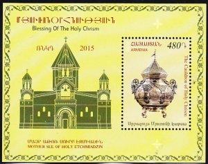Armenia 2015 MNH Souvenir sheet 480d The Cauldron of Holy Chrism