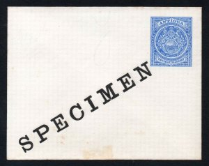 Antigua early SPECIMEN 2½d Postal Stationery Envelope
