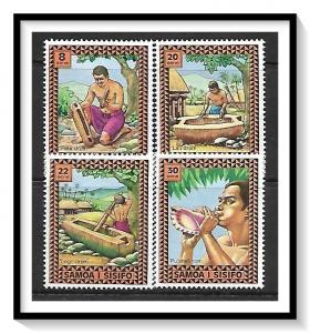 Samoa MNH 420-3 Music & Drums 1975