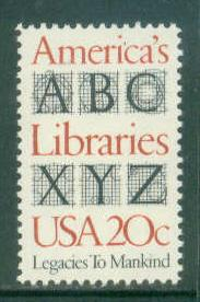 2015 20c Libraries Fine MNH Plt/4 UR 4 F18649