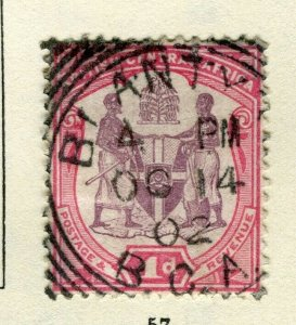 NYASALAND; 1901 classic Central Africa Wmk. issue used 1d. value Postmark