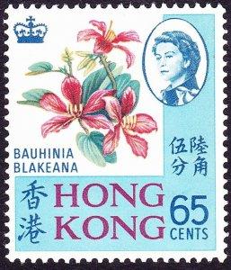 HONG KONG 1968 QEII 65c Multicoloured SG253 MNH