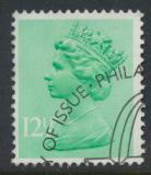 Great Britain SG X898 Sc# MH80    Used with first day cancel - Machin 12½p
