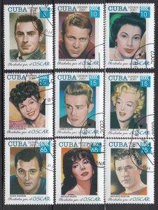 Cuba, Sc 4186-4194, CTO-H, 2001, Hollywood Stars