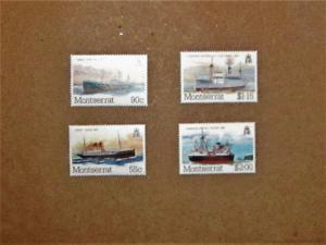 Montserrat - 539-42, MNH Set. Packet Boats. SCV - $2.20