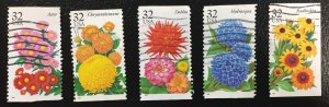 US #2993-2997 Used F/VF - Flowers (Complete Set)