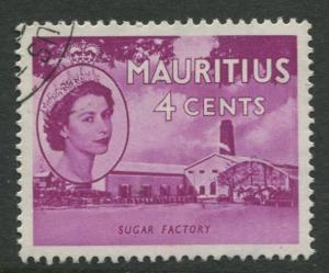Mauritius - Scott 253 - QEII Definitives -1954 -VFU -Single 4c Stamp