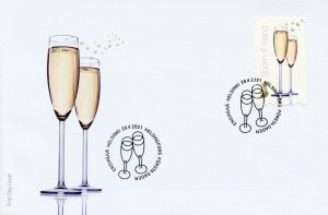 Finland Greetings Stamps 2021 FDC Day of Celebration Wine 1v S/A Set
