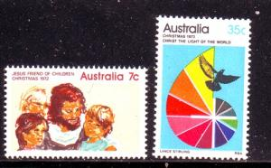 Australia  Sc 539-0 1972 Christmas stamp set mint NH