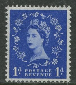 Great Britain - Scott 354c - QEII -Graphite Lines-1958 - MVLH- Single 1p Stamp