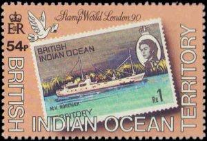 1990 British Indian Ocean Territory #90-93, Complete Set(4), Never Hinged