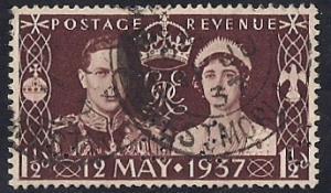Great Britain #234 1 1/2 P Rare Precancel, used stamp XF