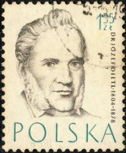 POLOGNE / POLAND - 1957 Mi1012 1,35 Zl Józef Dietl (1804-1878) MD - VFU