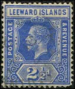 Leeward Islands SC# 50 George V 2-1/2d wmk 3 Used small thin