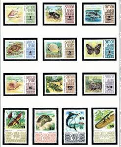 Samoa 369-78C MNH 1972-75 Various Wildlife
