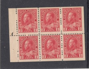 CANADA KKMK33 # 106a VF-MNH KGV 2cts BOOKLET PANE CAT VALUE $120