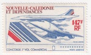 New Caledonia, Sc C129, MNH, 1976, Concorde