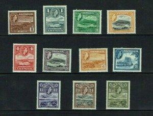 Antigua: 1953, Queen Elizabeth II  definitive, short set   Mint
