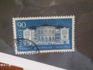 Norway #455 used 2018 SCV= $2.50