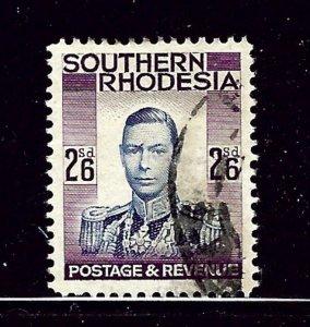 southern Rhodesia 53 Used 1937 KGVI